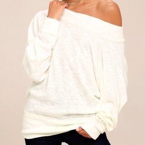 Free people off the shoulder palisades sweater